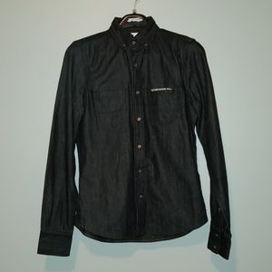 Superdry mens raw denim button down shirts